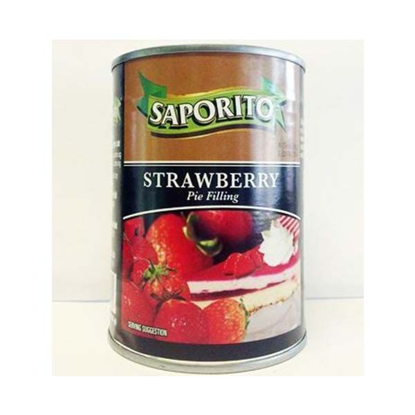 Saporito Strawberry Pie Filling 21oz Khampasert